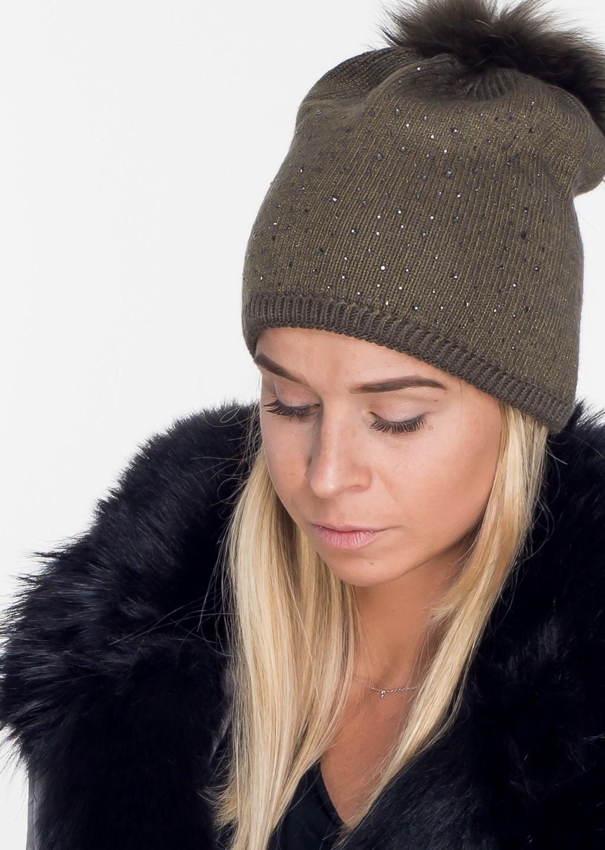 Włoska czapka PREMIUM JENOT zdobienia khaki