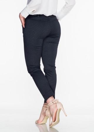 Włoskie eleganckie spodnie Office/Business Line szare/czarne
