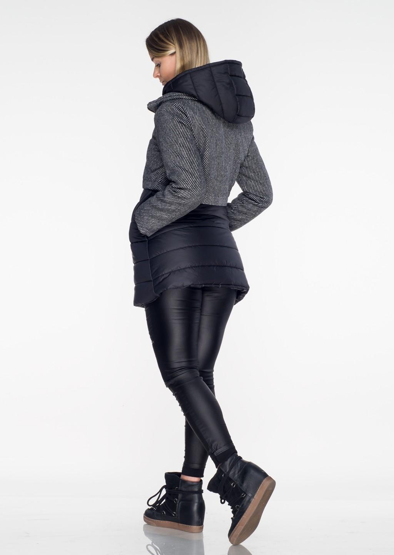Włoski płaszczyk pikowany czarny