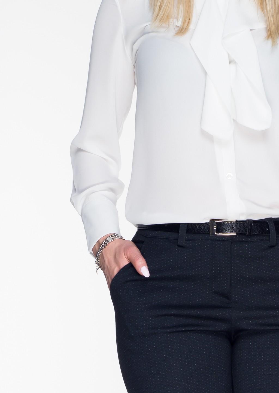 Włoskie eleganckie spodnie Office/Business Line granatowy