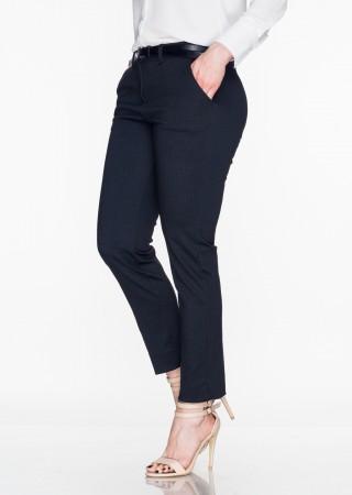 Włoskie eleganckie spodnie Office/Business Line czarny