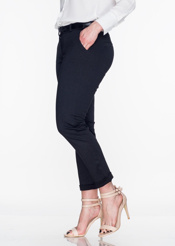 Włoskie eleganckie spodnie Office/Business Line czarne