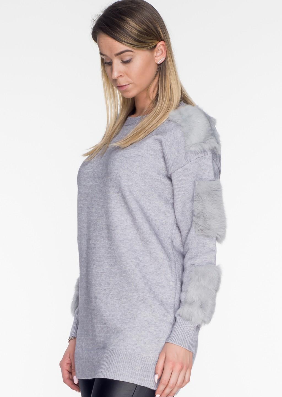 sweterek fur rekawy