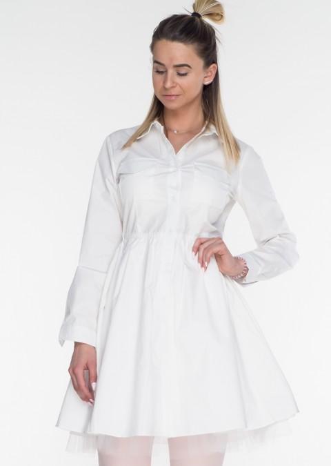 Włoska koszula / sukienka MILANO biała