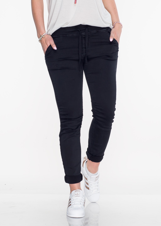 Włoskie spodnie dresowe jeans MILANO czarne