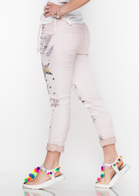 Włoskie spodnie MIDNIGHT różowe