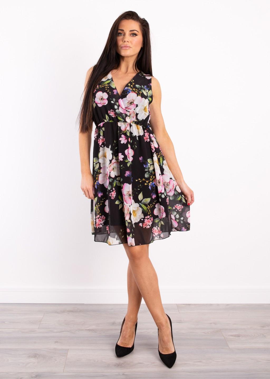 b0f866529006 Włoska sukienka Verona czarna - Lagattini