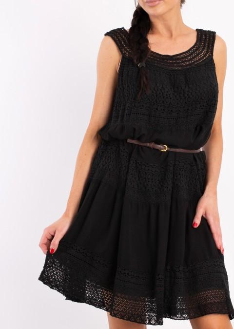 Włoska sukienka Elisabetta czarna