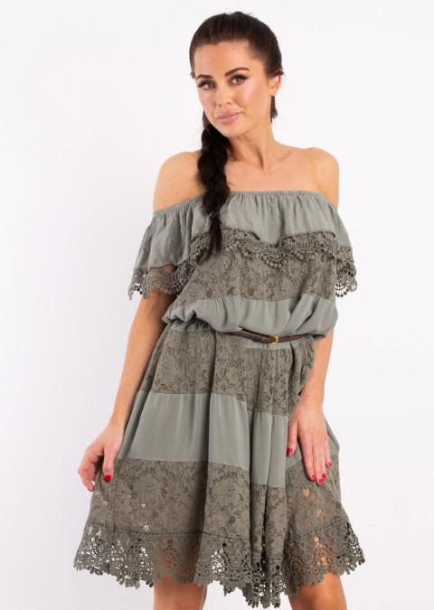 d0b9e0ee Włoska sukienka Adele khaki