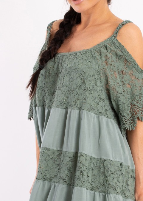 Włoska sukienka JULIETTE 2 pastelowy róż