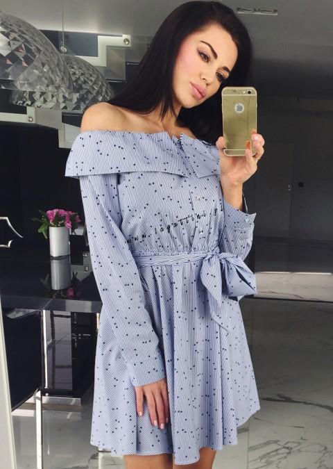 Sukienka Cocomore Carolina gwiazdki niebieska
