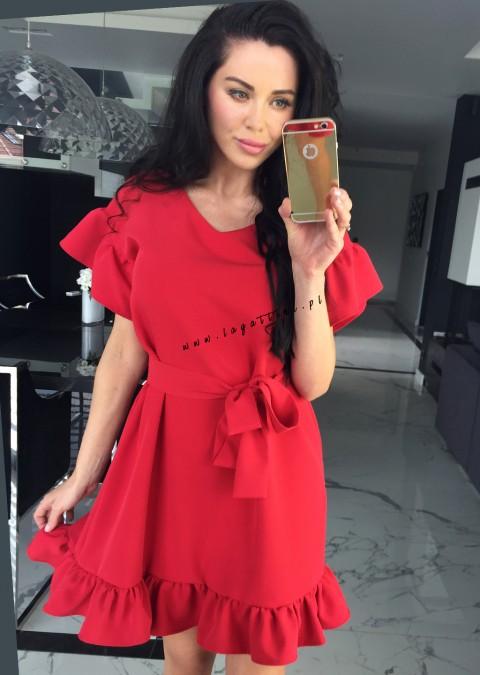 Sukienka Coco Selena 2 czerwona