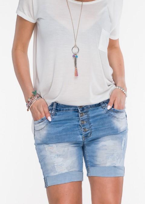 Szorty jeansowe guziki