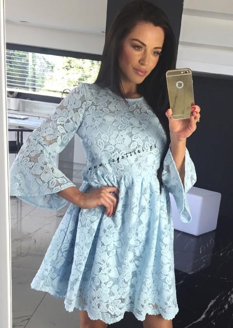 Sukienka Coco LAURA PREMIUM z gipiury niebieska