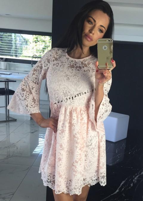 Sukienka Cocomore CLARA PREMIUM z gipiury różowa