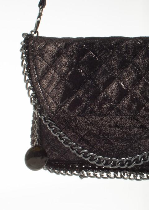 bd7ee4eb3eab0 Italy torebka crossbody luxury łańcuch czarna