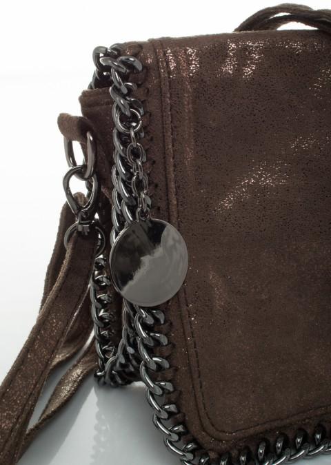8516c58a79b8e Italy torebka crossbody luxury łańcuch brązowa Torebka crossbody luxury  łańcuch brązowa