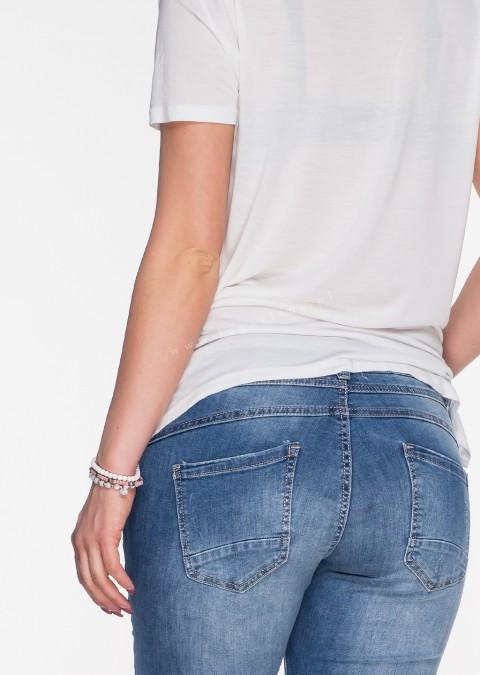 Włoskie jeansy GUZIKI PUSH UP blue jeans jeansy 3f54e596c4