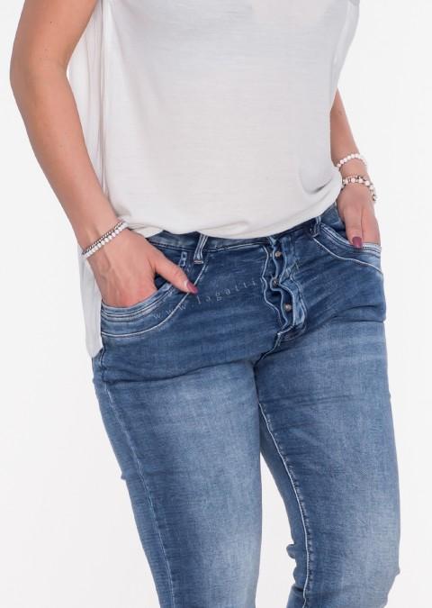 Włoskie jeansy GUZIKI przeszycia denim jeansy 02101c5ee7