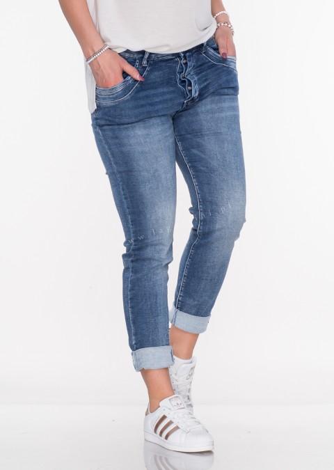 Włoskie jeansy GUZIKI przeszycia denim 6f47b6265d