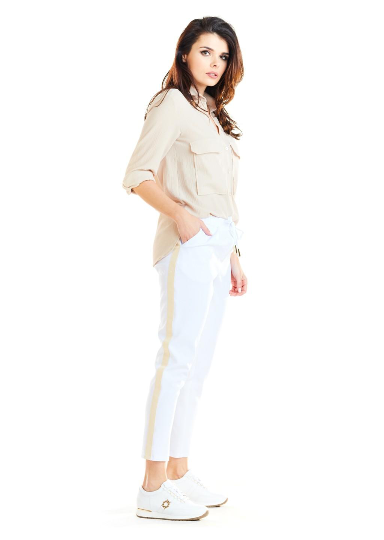 Spodnie lampas Limited Edition białe