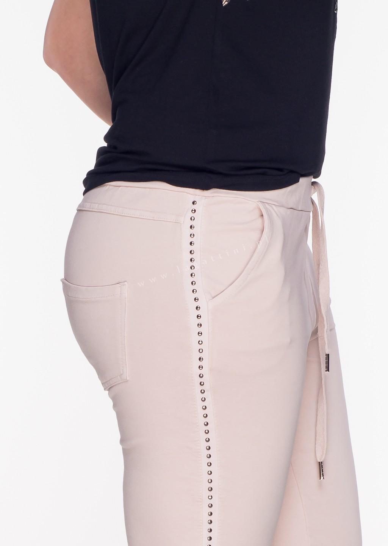 Włoskie spodnie dresowe LIMITED lampas czarne