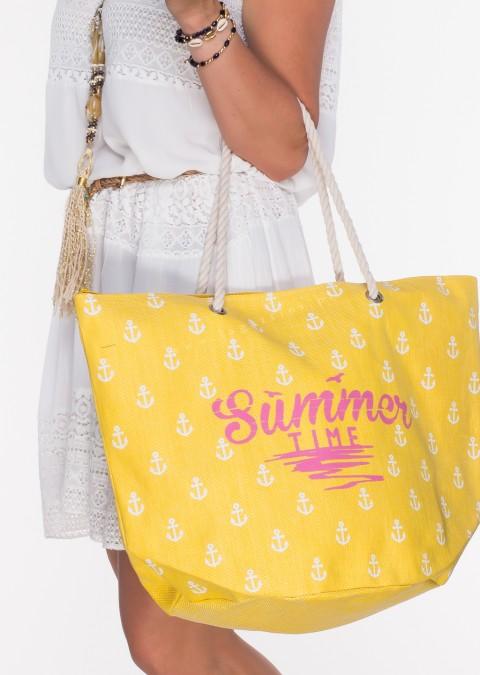 Italy torba plażowa shopper SUMMER żółty