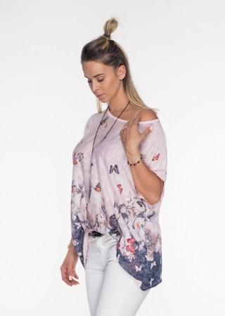 Włoska bluzka MOTYLE różowa