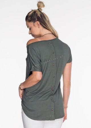 Włoski t-shirt basic NAPY TIGER khaki