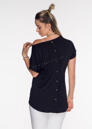Włoski t-shirt basic NAPY TIGER czarny