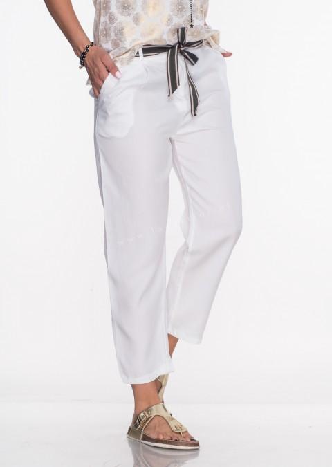 06afe23f Włoskie spodnie ROMANTIC białe