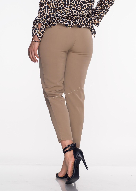 Włoskie eleganckie spodnie Office/Business Line camel