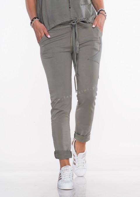 f081b6d08c1c51 Włoskie spodnie dresowe Effect Star khaki ...