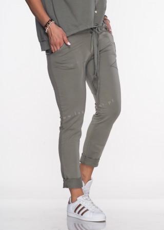 Włoskie spodnie dresowe Effect khaki