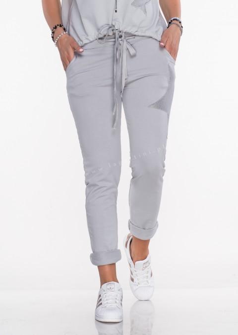 ae8690ea Włoskie spodnie dresowe Effect Star jasny...