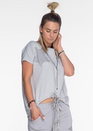 Włoska bluza dresowa Effect jasny szary