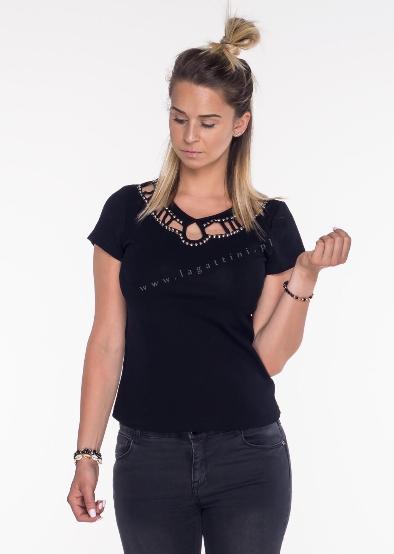 Włoski t-shirt Adele limited czarny