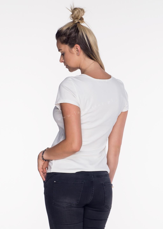 Włoski t-shirt Adele limited ecru