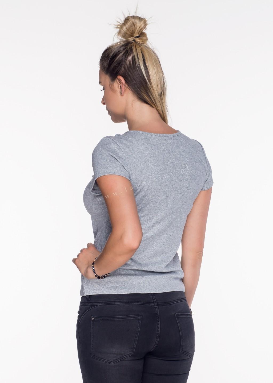 Włoski t-shirt Adele limited szary