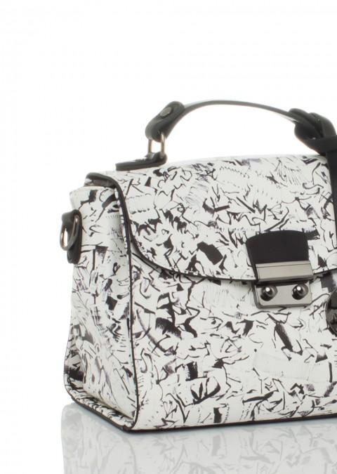 Italy torebka kufer alex max black&white