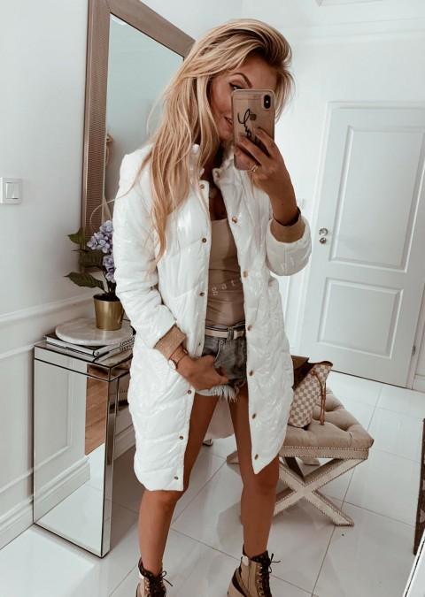 Pikowany płaszczyk COCOMORE biały