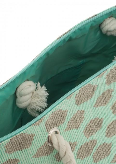 Italy torba plażowa fluo look mięta