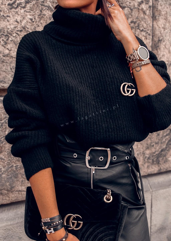 Sweter ROLL NECK czarny