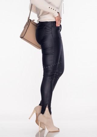 Włoskie spodnie VERONICA ZIP wrzosowe