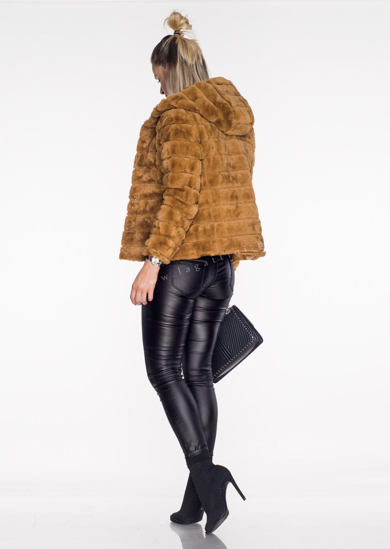 Włoska pikowana kurtka 2w1 CAMILLA camel