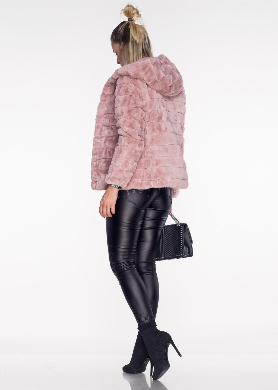 Włoska pikowana kurtka 2w1 CAMILLA różowa