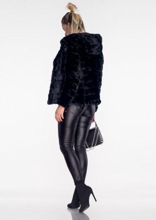 Włoska pikowana kurtka 2w1 CAMILLA czarna