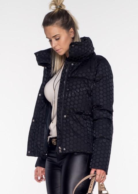 Włoska kurtka MOON LADY czarna