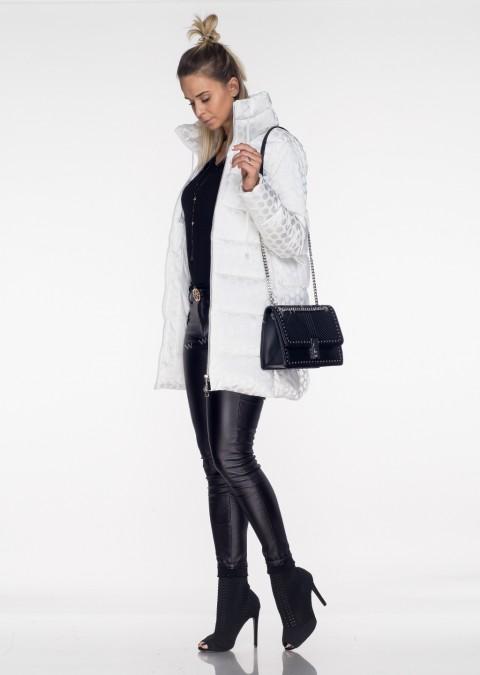 Włoski płaszczyk MOON LADY biały