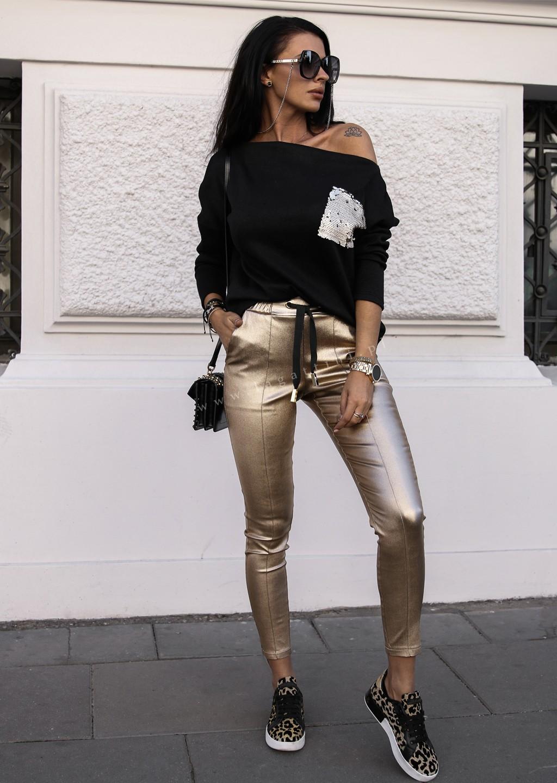 Woskowane spodnie GOLD RING gold